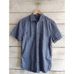 EUC Gap Short Sleeve Slim Fit Button Down Shirt L